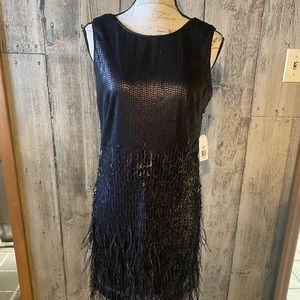 Sequin and feather dress Jessica Simpson 6